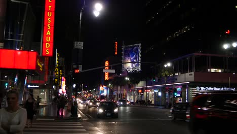 California-Los-Angeles-Busy-City-Street-At-Night