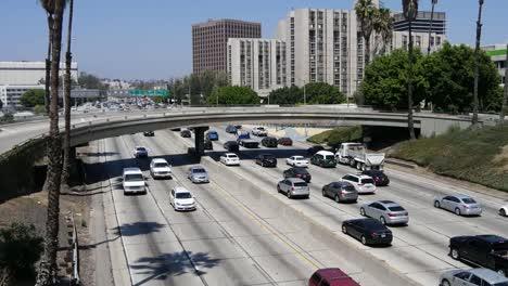 California-Los-Angeles-Busy-Highway-Under-A-Bridge