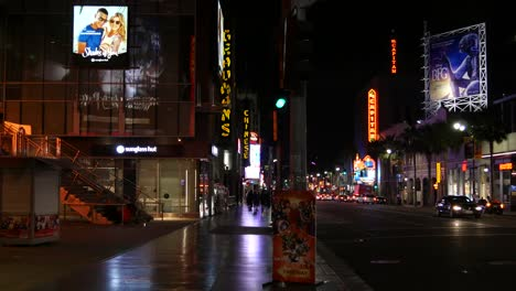 California-Los-Angeles-Busy-Street-And-Sidewalk-At-Night
