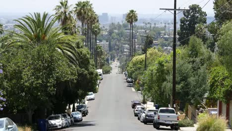 California-Los-Angeles-Cars-Parked-Along-Hilly-Street