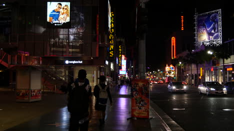 California-Los-Angeles-City-Pedestrians-At-Night