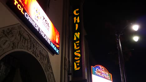 California-Los-Angeles-Close-Up-Of-Night-Lights-For-Chinese-Theater