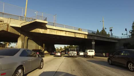California-Los-Angeles-Driving-Under-A-Throughway