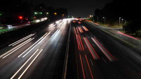 California-Los-Angeles-Fast-Time-Lapse-At-Night-Of-A-Highway