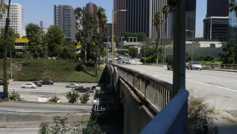 California-Los-Angeles-Highway-And-Bridge-With-Cars