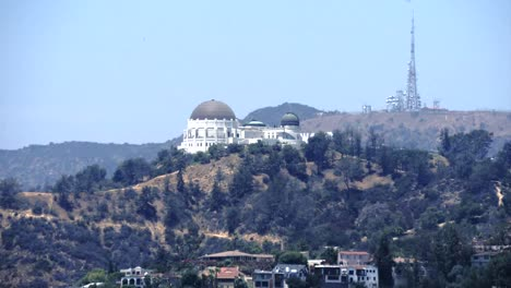 California-Los-Angeles-Hill-With-Trees-Observation-Dome-And-Radio-Tower