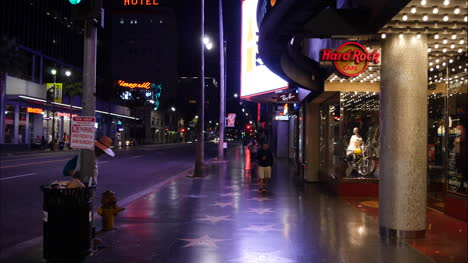 California-Los-Angeles-Moving-Time-Lapse-Shot-Of-Hollywood-Boulevard-At-Night