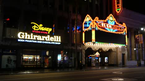 California-Los-Angeles-Theater-Next-To-Candy-Shop-At-Night