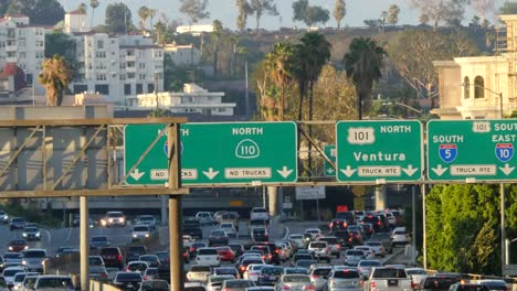 California-Los-Angeles-Throughway-Traffic-And-Signs