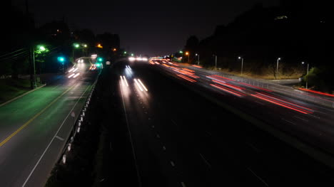 California-Los-Angeles-Time-Lapse-Of-A-Highway-At-Night