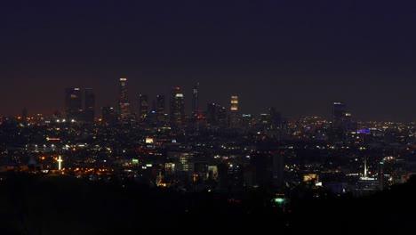 California-Los-Angeles-Lapso-De-Tiempo-De-Toda-La-Ciudad-Desde-La-Tarde-Hasta-La-Noche