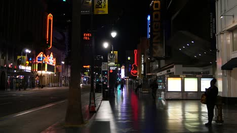 California-Los-Angeles-View-Of-Hollywood-Boulevard-At-Night