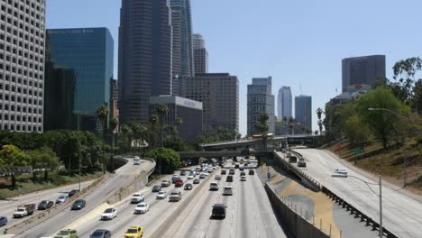 California-Los-Angeles-View-Of-Highway-Bridges-To-Highway-And-Tall-Buildings