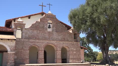 California-Mission-San-Antonio-De-Padua-Front-With-Olive-Tree
