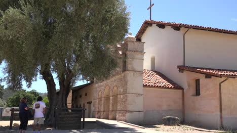 California-Mission-San-Antonio-De-Padua-Olive-Tree-And-People