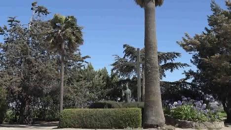 California-Mission-Soledad-Serra-Statue-In-Garden-Pan