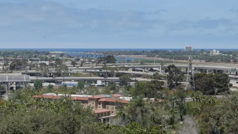 California-San-Diego-I5-I8-Interchange-With-Mission-Bay-Pan