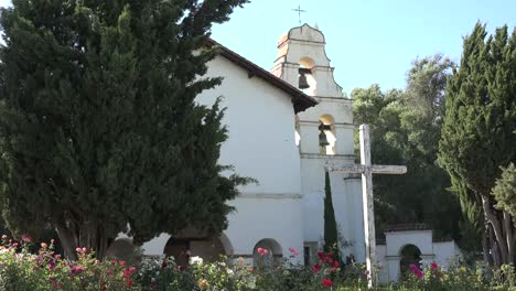 California-San-Juan-Bautista-Mission-Bell-Tower-With-Cross
