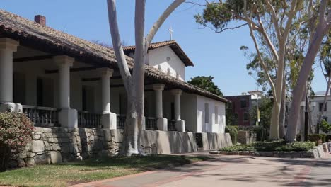 California-San-Luis-Obispo-Mission-Colonnade-Pan