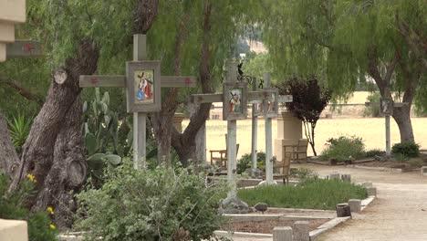 Kalifornien-Solvang-Mission-Santa-Ines-Kalvarienstationen-Des-Kreuzes