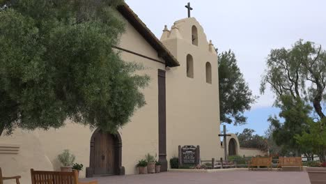 California-Solvang-Mission-Santa-Ines-Church-Front-Bell-Tower