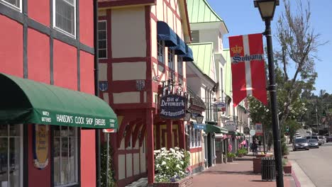 California-Solvang-Banner-And-Shop-Fronts