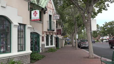 California-Solvang-Sidewalk-With-Man-Walking