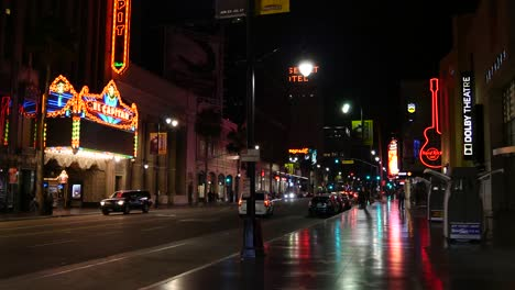 California-Calm-Night-On-Hollywood-Boulevard-With-Many-Neon-Lights