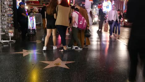 Los-Angeles-Hollywood-Walk-Of-Fame-Group-At-Night