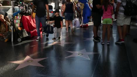 Los-Angeles-Hollywood-Pedestrians-Walk-On-The-Walk-Of-Fame
