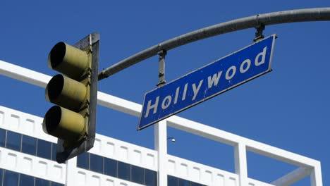 Los-Angeles-Hollywood-Street-Sign-Y-Luz-De-Freno