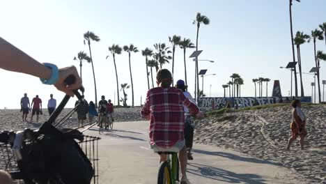Los-Angeles-Venice-Beach-Bike-Path-Bicycles-Go-Past