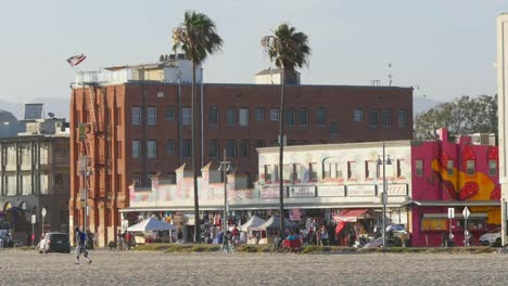 Los-Angeles-Venice-Beach-Boardwalk-Telephoto-View-From-Beach