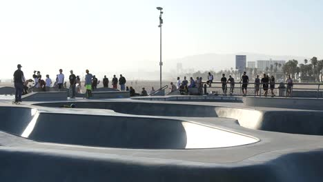 Los-Angeles-Venice-Beach-Pan-Left-Follows-Skater