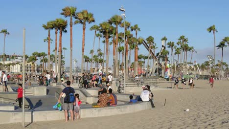 Los-Angeles-Venice-Beach-Skate-Park-Next-To-Beach-Wide-View