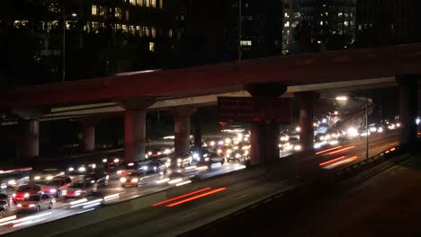 Los-Angeles-Car-Lights-At-Night-Time-Lapse
