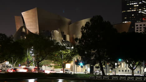Los-Angeles-Civic-Buildings-At-Night-With-Lights