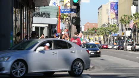Los-Angeles-Crossing-A-Side-Street-In-Hollywood