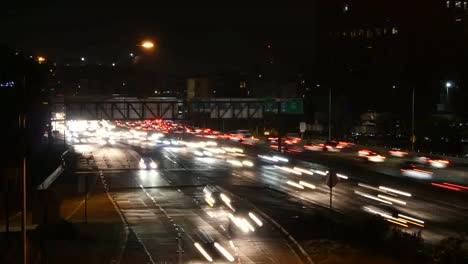 Los-Angeles-Night-View-Of-Throughway-Traffic-Time-Lapse