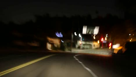 Los-Angeles-On-The-Road-At-Night-Time-Lapse