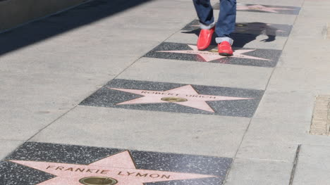 Los-Angeles-Red-Shoes-On-The-Hollywood-Walk-Of-Fame