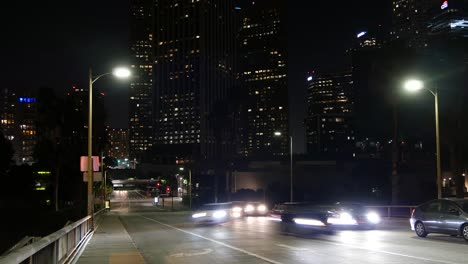 Los-Angeles-Skyscraper-Lights-And-Traffic-At-Night-Time-Lapse