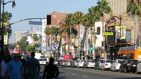 Los-Angeles-Street-Scene-With-J-Walking-On-A-Street-In-Hollywood