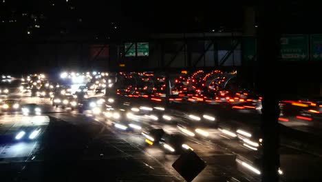 Los-Angeles-Two-Streams-Of-Traffic-At-Night-Rush-Hour-Time-Lapse