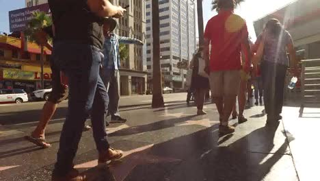 Los-Angeles-Walking-Into-Sun-On-The-Hollywood-Walk-Of-Fame