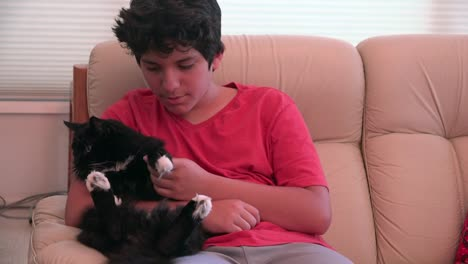 Boy-With-A-Black-Cat