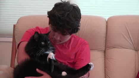 Boy-With-Cat