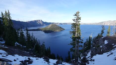 Mirador-De-La-Isla-Del-Mago-Del-Lago-Del-Cráter-De-Oregon