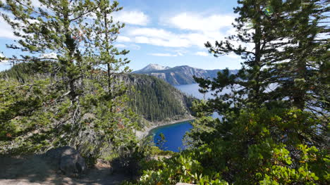 Oregon-Crater-Lake-Framed-By-Trees