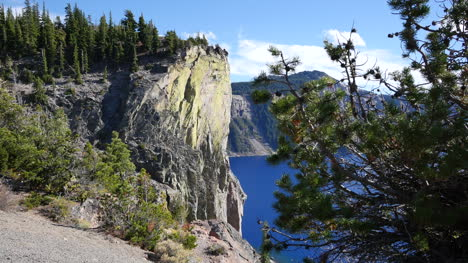 Oregon-Crater-Lake-Tree-With-Green-Cliff